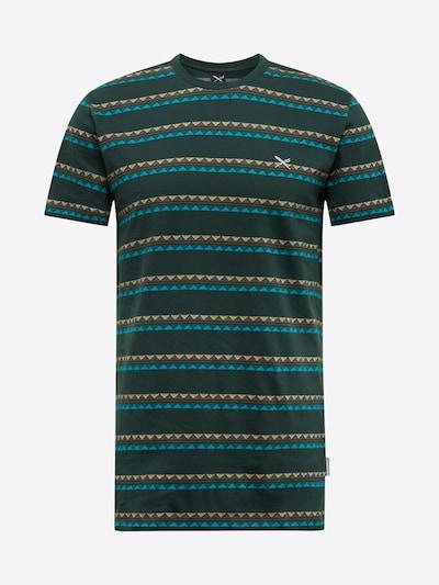 Iriedaily T-Shirt 'Monte Noe Jaque' en pétrole / vert foncé / orange: Vue de face
