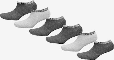 MUSTANG Socken in hellgrau / dunkelgrau, Produktansicht