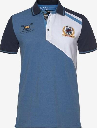 BRUNO BANANI Poloshirt in hellblau / dunkelblau / weiß, Produktansicht