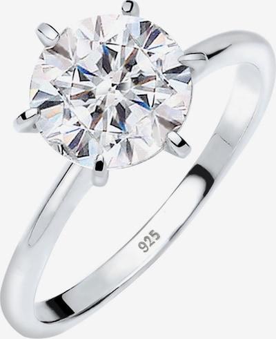 ELLI Ring in de kleur Zilver / Wit, Productweergave