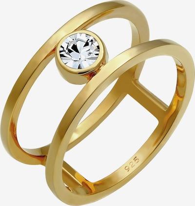 ELLI PREMIUM Ring Kristall Ring, Solitär-Ring in gold: Frontalansicht