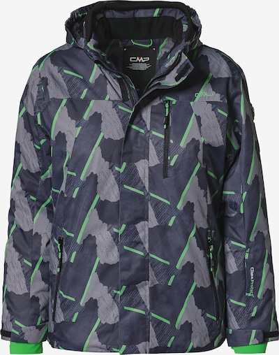 CMP Skijacke in grau / basaltgrau / grün, Produktansicht