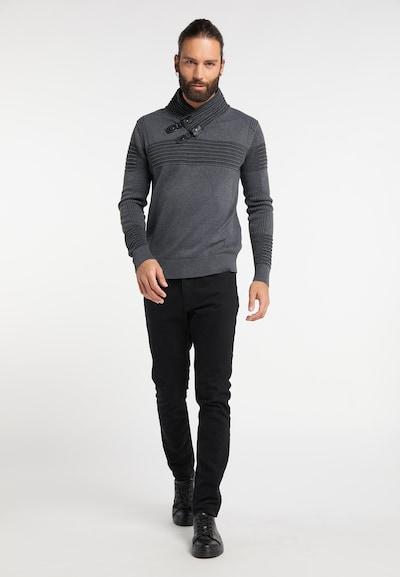 ROCKEASY Pullover in anthrazit / graumeliert, Produktansicht