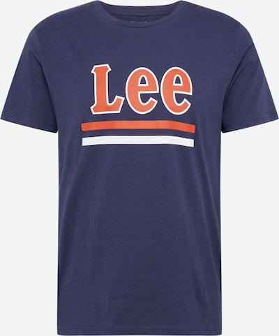 Lee Shirt in navy / orange / weiß, Produktansicht