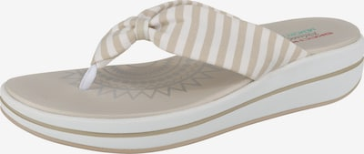 SKECHERS Zehentrenner 'Upgrades Moon Bay' in beige / weiß, Produktansicht