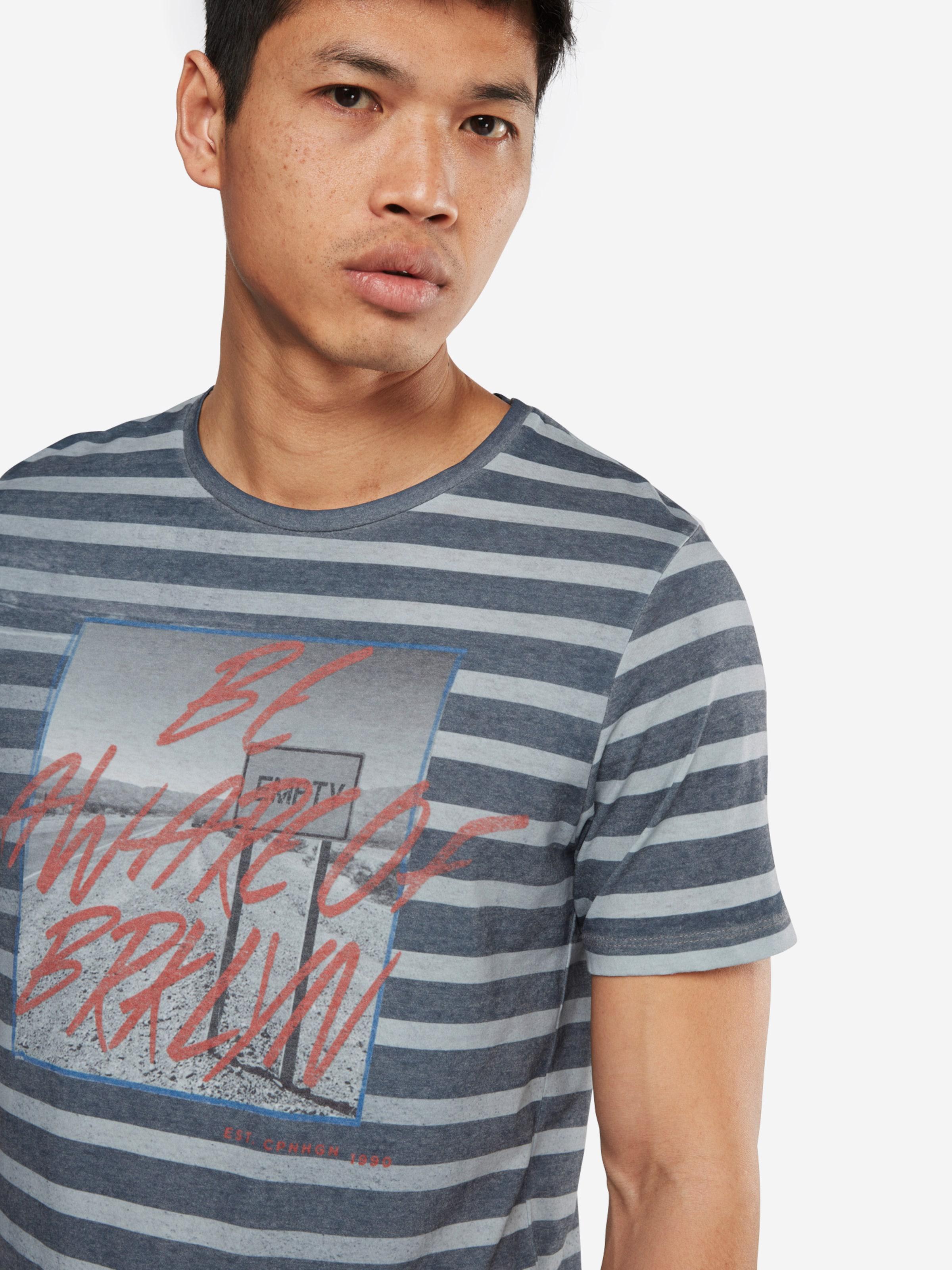 JACK & JONES T-Shirt 'JORSUNDOWN STRIPE SS CREW NECK' Verkauf Sast 1VmJDj8l