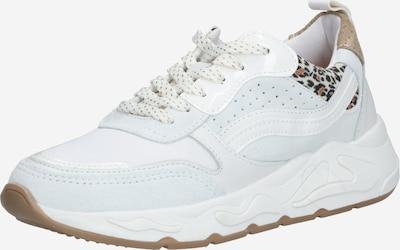PS Poelman Sneakers laag 'P6469POE' in de kleur Bruin / Lichtgrijs / Wit, Productweergave