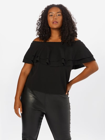 Guido Maria Kretschmer Curvy Collection Bluse 'Ina' in schwarz, Modelansicht