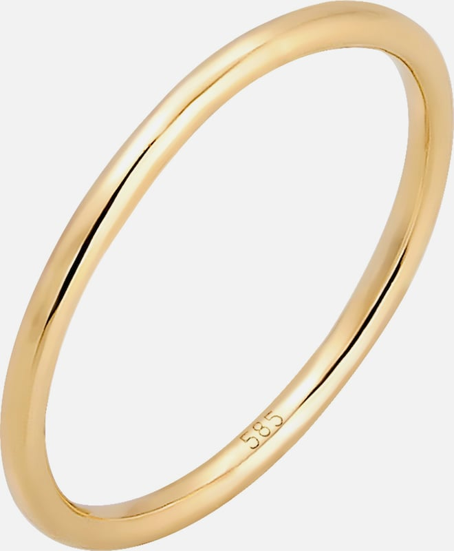 ELLI PREMIUM Ring in gold: Frontalansicht