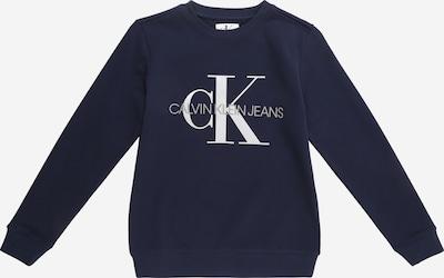 Calvin Klein Jeans Sweatshirt in dunkelblau / weiß, Produktansicht