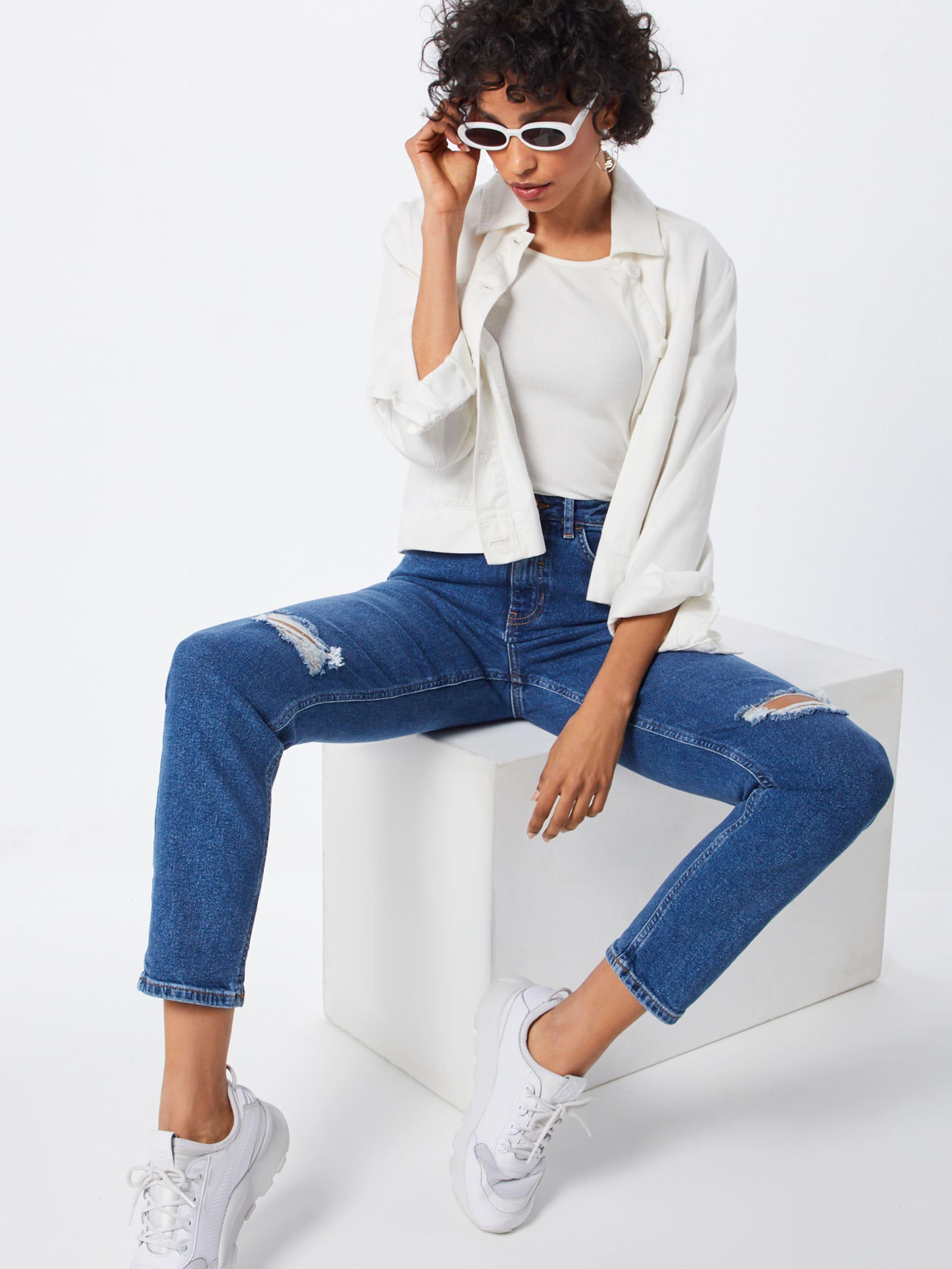 'ripped Jeans Mom' In Slim Denim Look New Blue trsohxQdCB