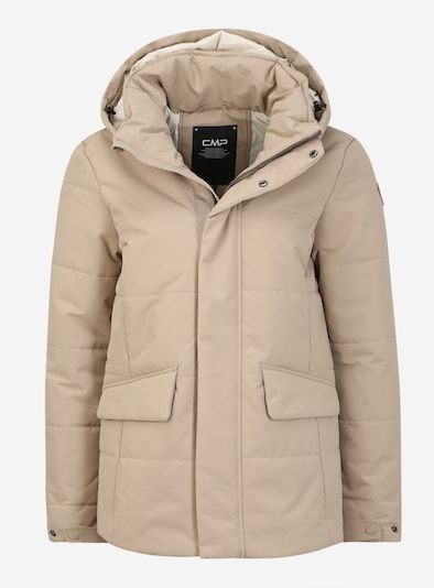 CMP Veste outdoor 'WOMAN JACKET FIX HOOD' en sable, Vue avec produit
