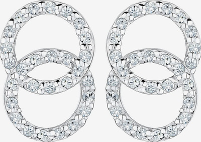 ELLI Boucles d'oreilles 'Kreis' en argent / blanc: Vue de face