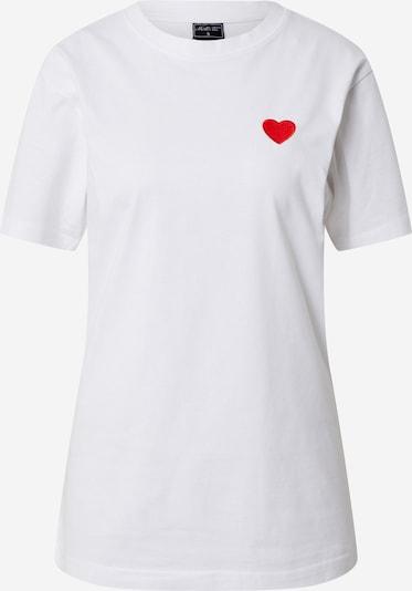 Marškinėliai 'Heart' iš Mister Tee , spalva - raudona / juoda / balta, Prekių apžvalga