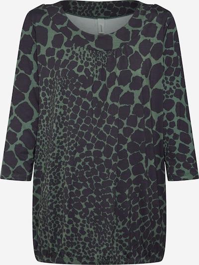 Soyaconcept Bluse 'MARICA AOP' in dunkelgrün / schwarz, Produktansicht