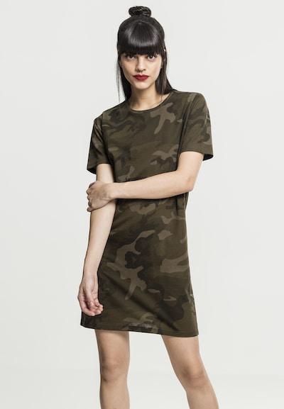Urban Classics Kleid in anthrazit / khaki / oliv / dunkelgrün, Modelansicht