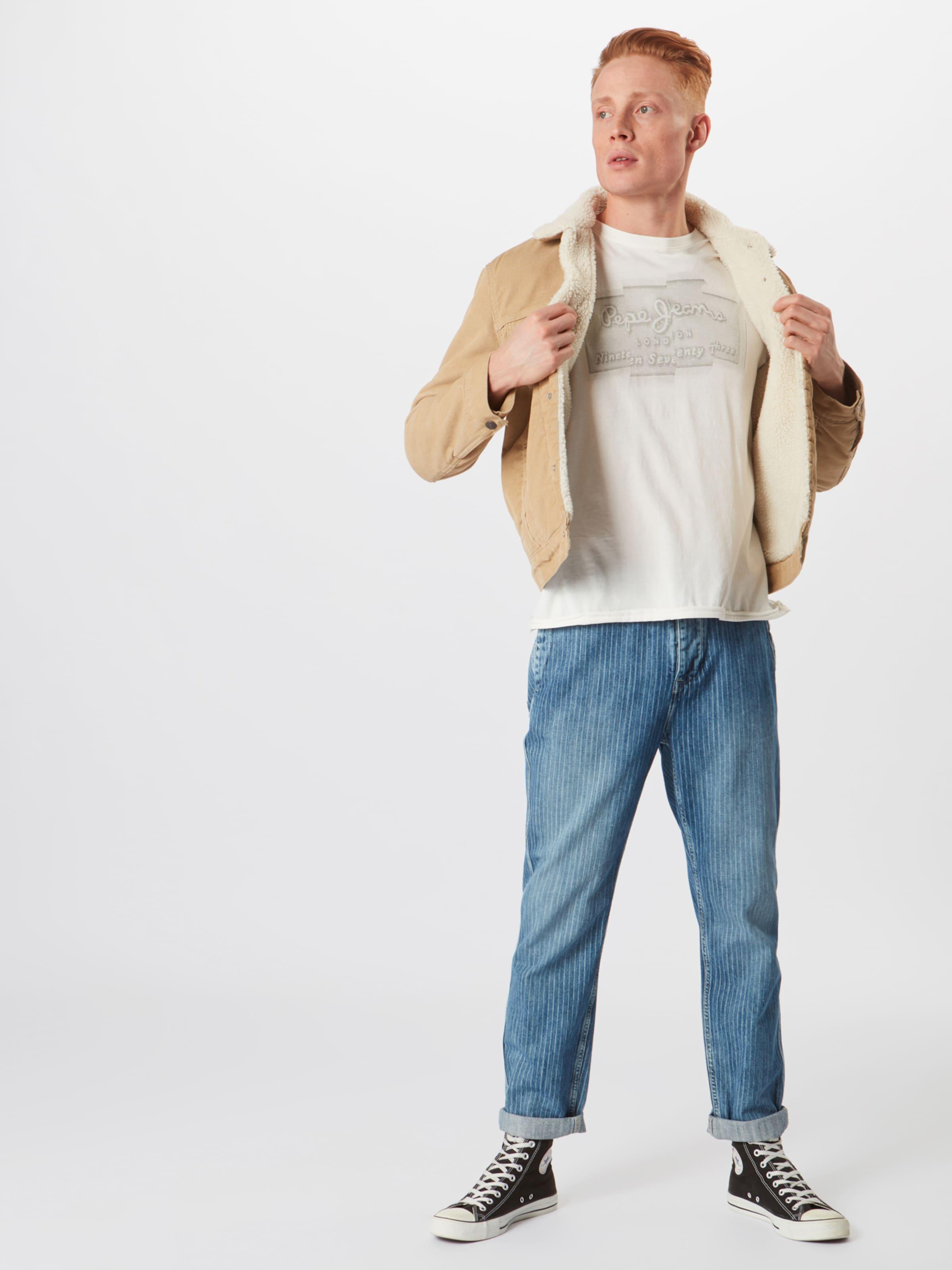 Pinstripe' Jeans Pepe In 'trade Blue Denim Qrdtsh