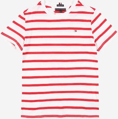 TOMMY HILFIGER Shirt in kirschrot / weiß, Produktansicht
