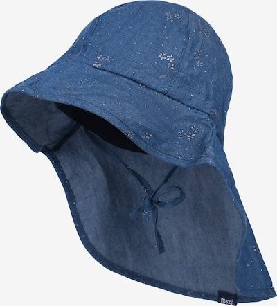 MAXIMO Sonnenhut mit UV-Schutz mit Nackenschutz in blau: Frontalansicht