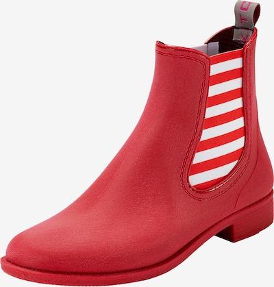 Crickit Chelsea Boot 'MIA' mit Ringeln in rot / weiß, Produktansicht