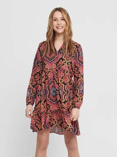 ONLY Kleid in mischfarben / dunkelpink, Modelansicht