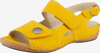 WALDLÄUFER Heliett Komfort-Sandalen in gelb, Produktansicht