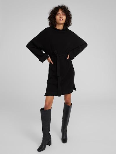EDITED Robes en maille 'Nata' en noir, Vue avec modèle