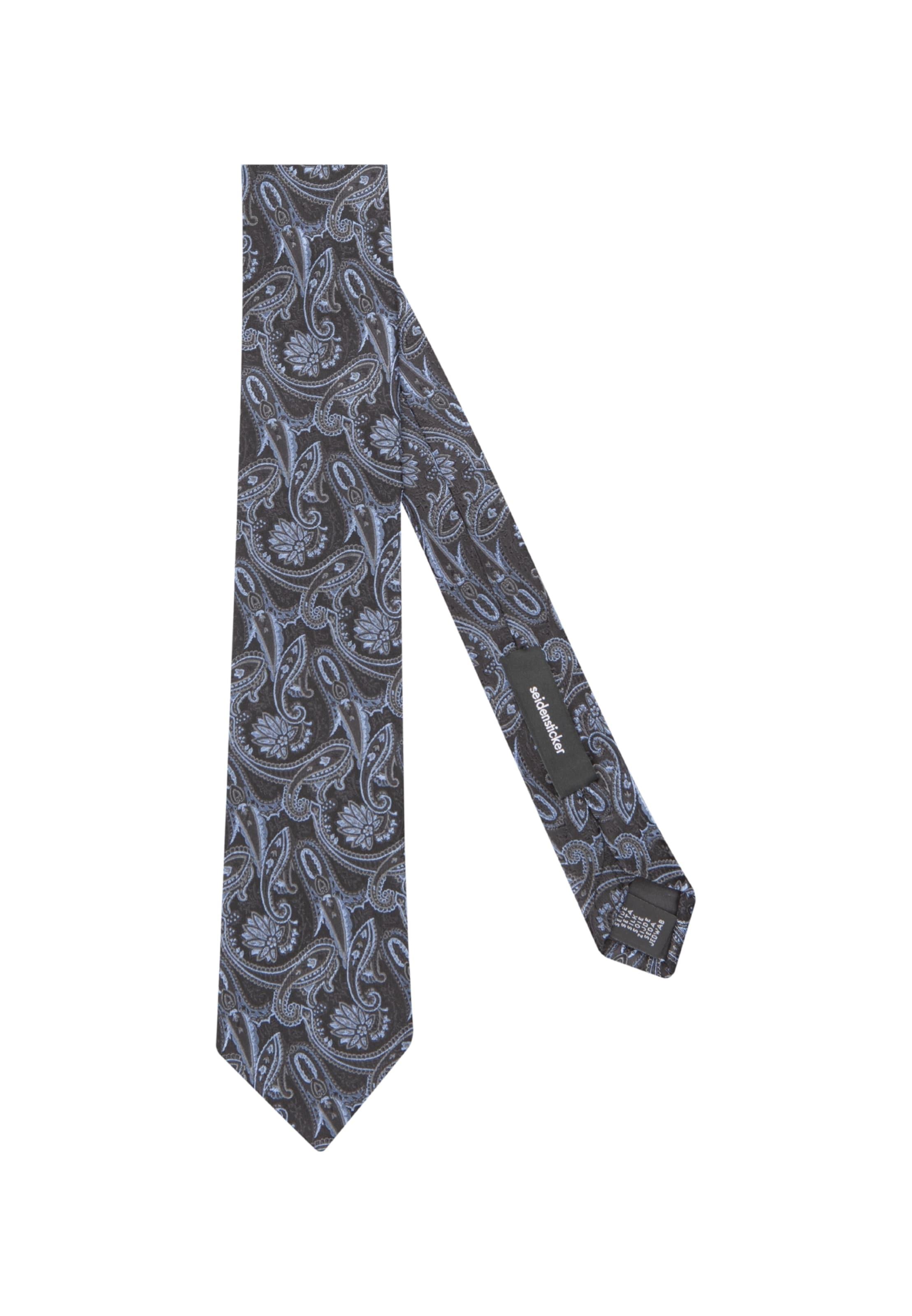 Krawatte Seidensticker BlauGrau 'schwarze Rose' In dWBQxorCe