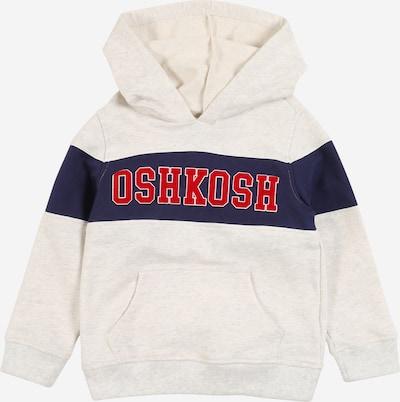 OshKosh Hoodie in creme / dunkelblau / rot / weißmeliert, Produktansicht