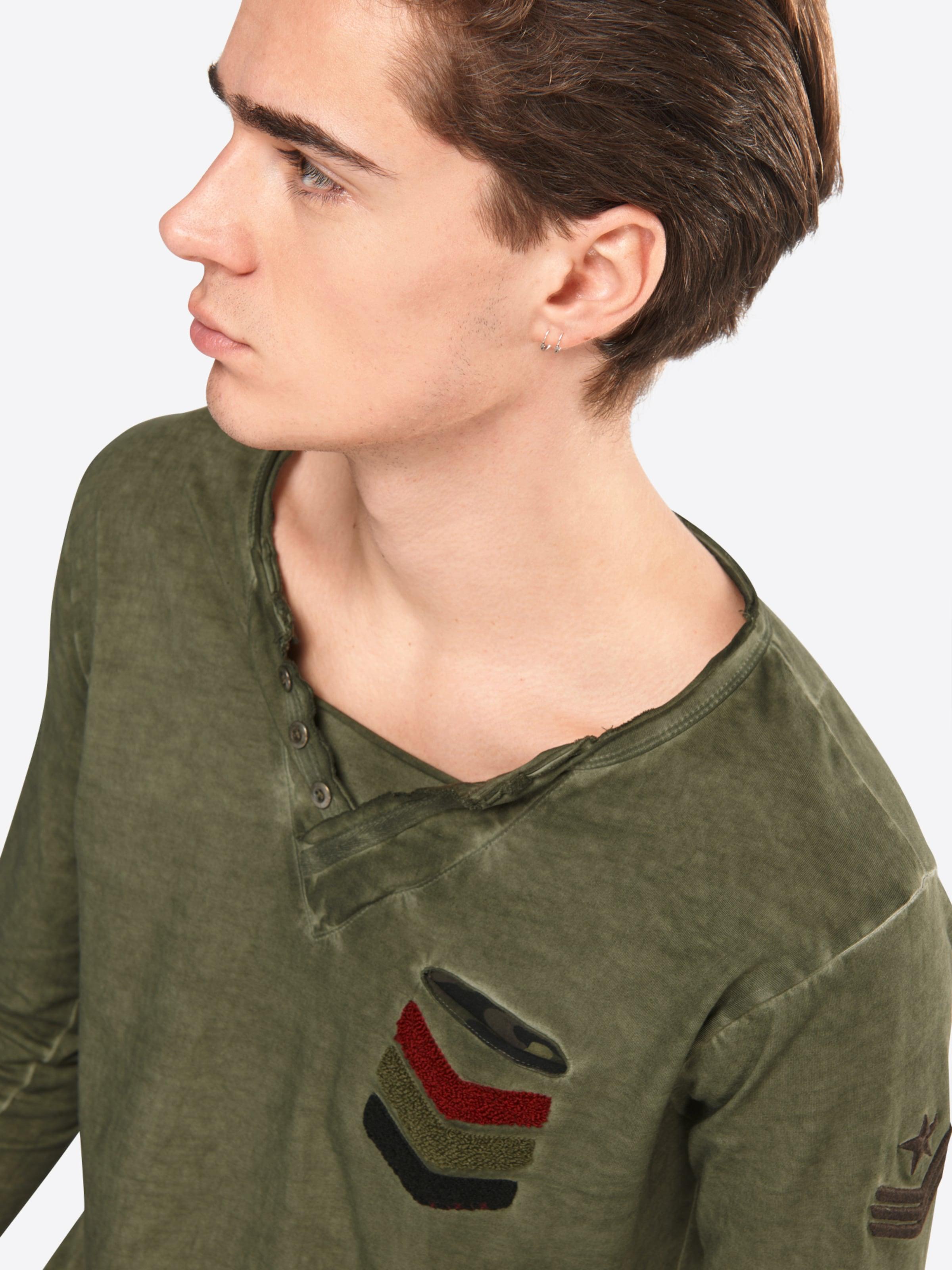 Key Largo Langarmshirt 'MLS GUN button' Preiswerte Qualität Top-Qualität Verkauf Online NnftXPAIf