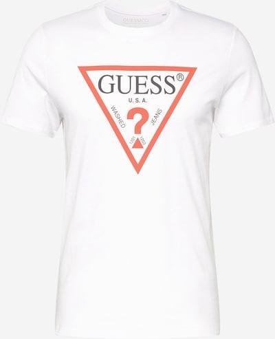 GUESS Shirt in rot / weiß, Produktansicht