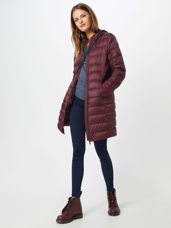 VILA VILA VILA Mantel  'VIMANYA LIGHT DOWN LONG JACKET PB' in weinrot  Bequem und günstig 99d920