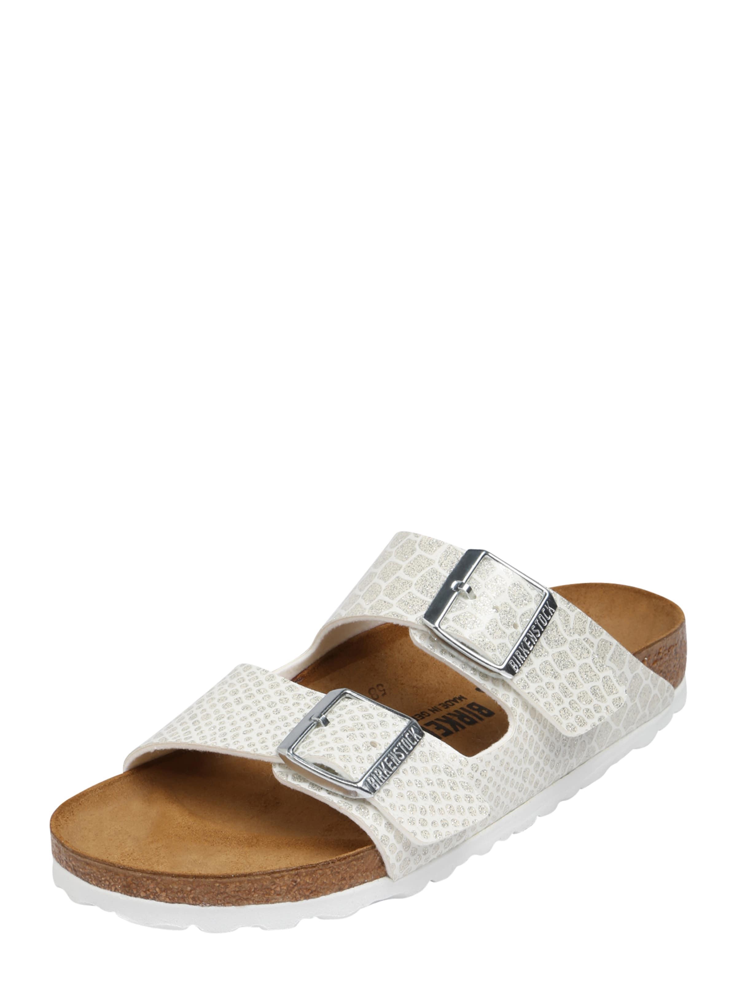 Sandale SilberWeiß In 'arizona' Birkenstock htsdrQ