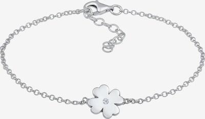 Diamore Armband 'Kleeblatt' in de kleur Zilver: Vooraanzicht
