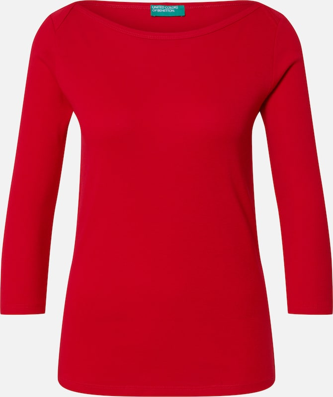 UNITED COLORS OF BENETTON Shirt in rot, Produktansicht