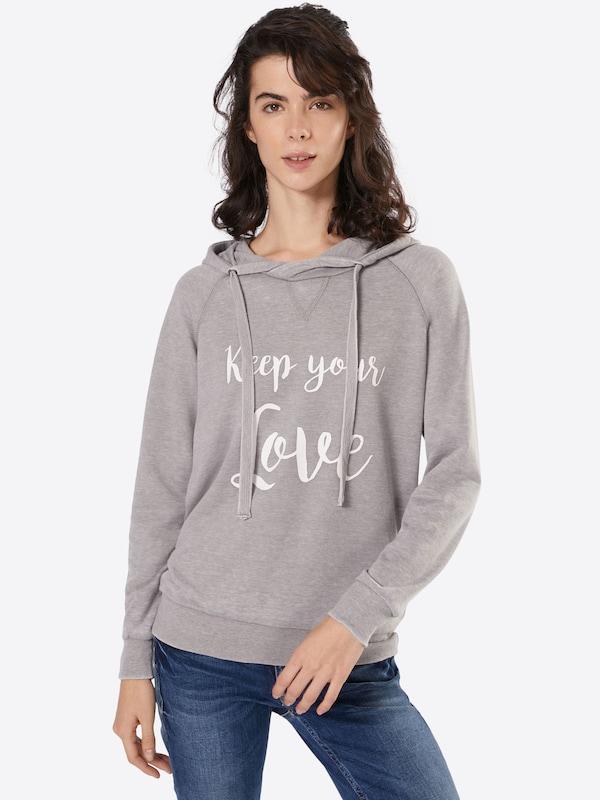 GREYSTONE Sweatshirt mit Statement-Print