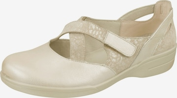 Lei by tessamino Ballet Flats with Strap 'Lisa' in Beige