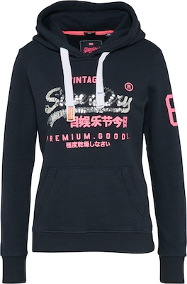 Superdry Sweatshirt 'PREMIUM GOODS SEQUIN HOOD'