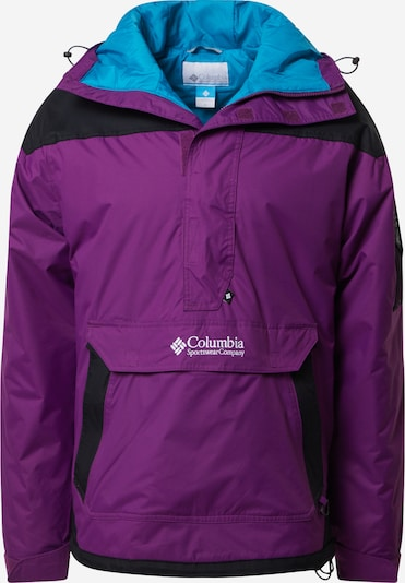 COLUMBIA Outdoorová bunda 'Challenger' - tmavofialová / čierna, Produkt