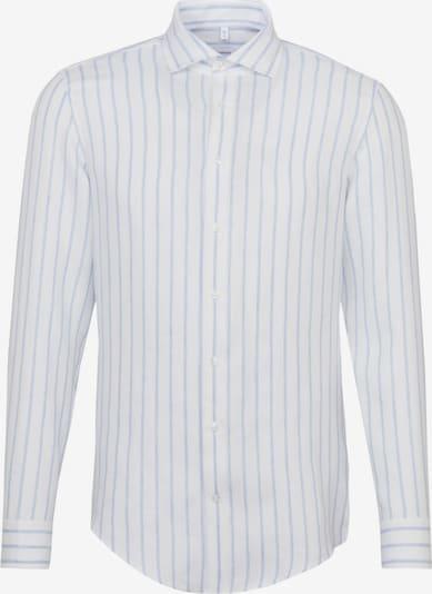 SEIDENSTICKER Hemd in pastellblau / weiß: Frontalansicht