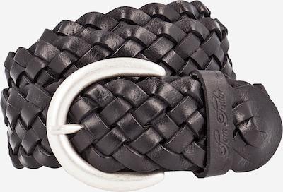TOM TAILOR Gürtel 'Braided' 4.0cm in schwarz, Produktansicht