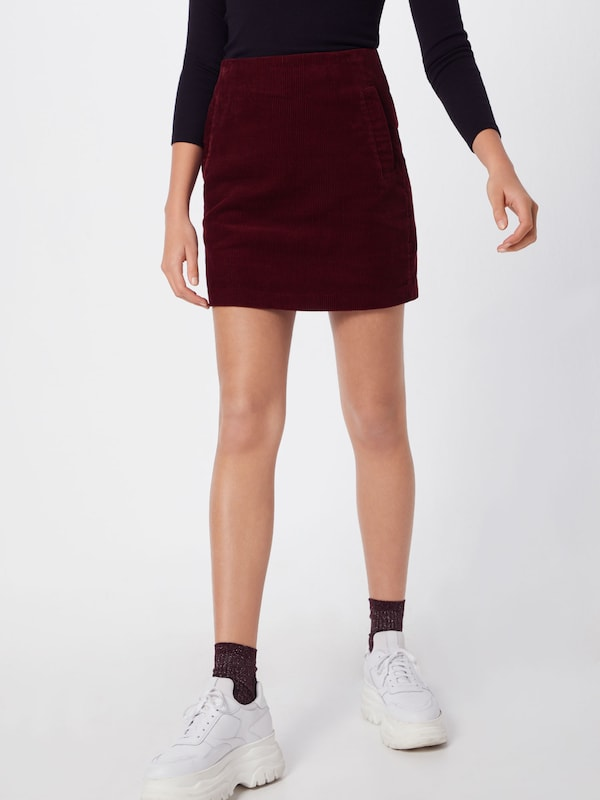 New Bordeaux 'welt' Jupe En Look TkXZiuwOP
