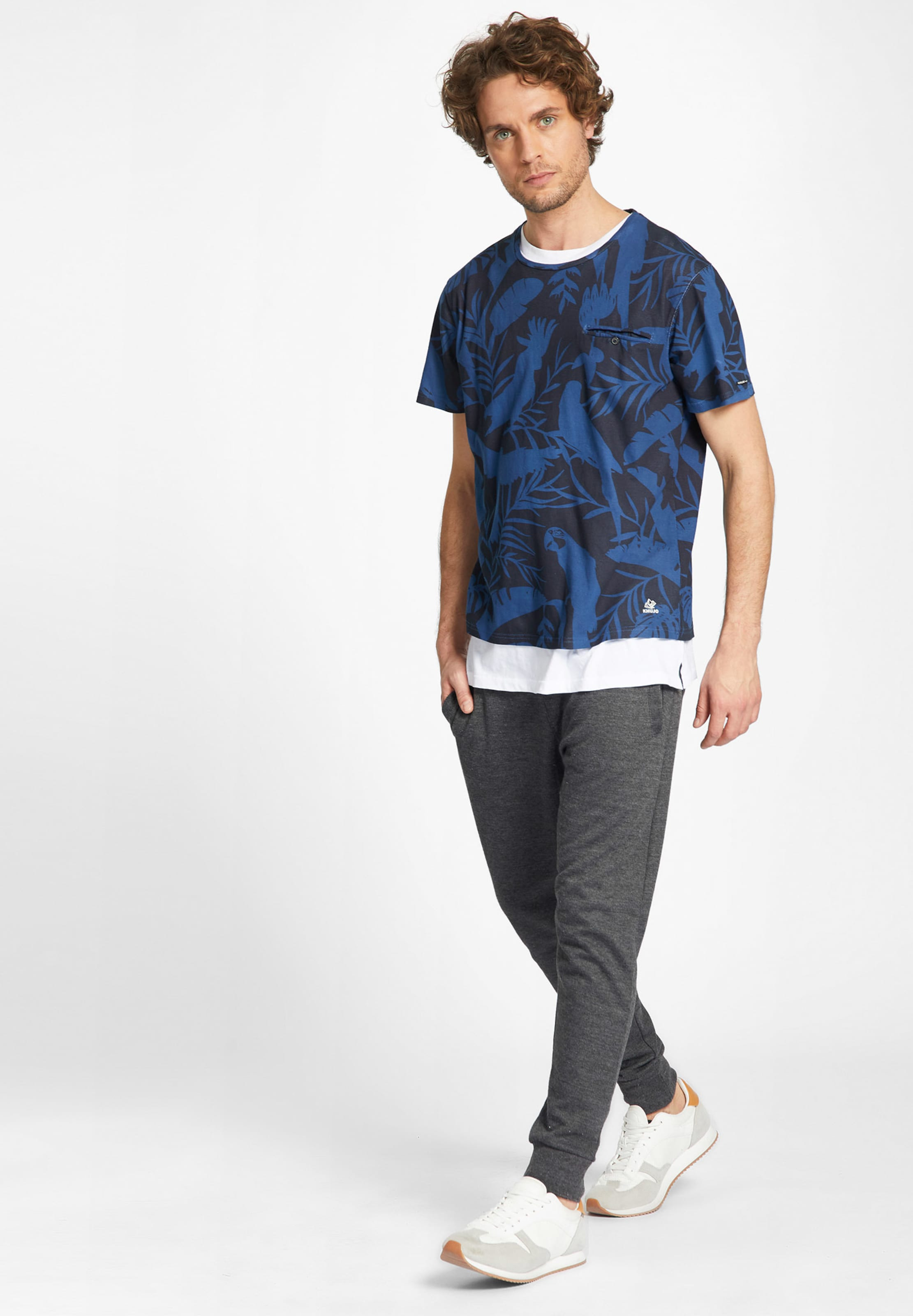 Khujo BlauSchwarz 'tevarez' In In Shirt 'tevarez' Shirt BlauSchwarz Khujo Qshtrd