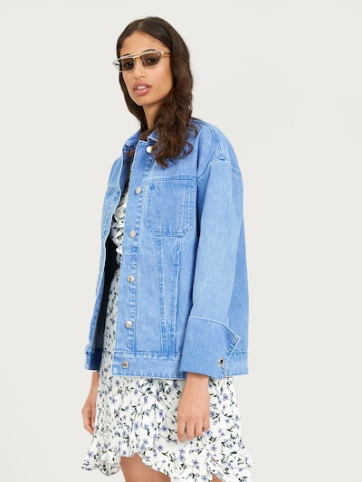 EDITED Jeansjacke 'Fina' in blue denim: Frontalansicht