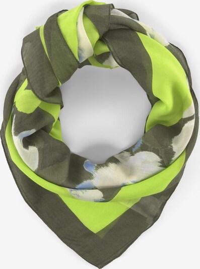 TOM TAILOR 2 Grünes Tuch mit floralem Print in grün / hellgrün / weiß, Produktansicht