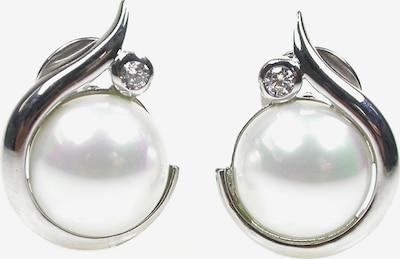Orquidea Perlenohrringe 'Minerva' in silber / weiß, Produktansicht