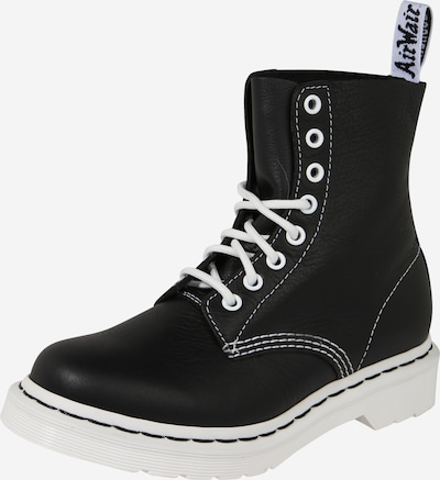 Dr. Martens Lace-Up Ankle Boots in Black / White, Item view