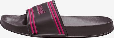 Hummel Badelatschen 'Pool Slide' in dunkelblau / pink, Produktansicht