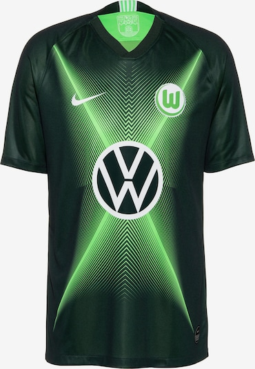 NIKE Fußballtrikot 'VFL Wolfsburg 19/20 Heim' in dunkelgrün, Produktansicht