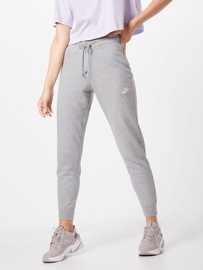 Nike Sportswear Hose 'W NSW ESSNTL PANT TIGHT FLC' in hellgrau, Modelansicht